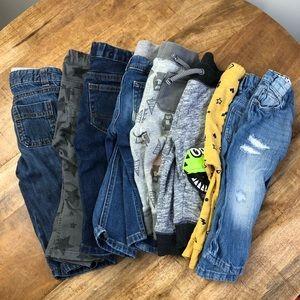 Cat & Jack Little Boys Jeans Sweatpants Blue 9-12